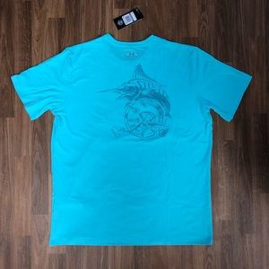 UNDER ARMOUR UA MENS CHARGED COTTON TROUT HEAT GEAR T-SHIRT XL Or XXL NWT